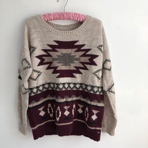 American Eagle Tribal Printed Sweater